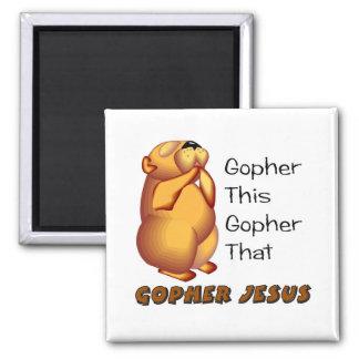 Praying gopher Christian design Fridge Magnet
