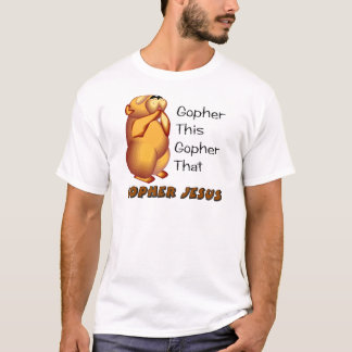 Praying gopher Christian design T-Shirt