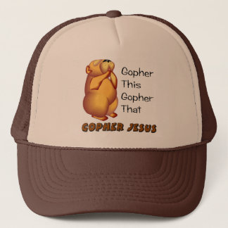 Praying gopher Christian design Trucker Hat