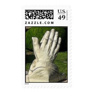 Praying Hands Abstract Postage