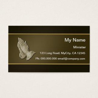 Praying Hands Business Card