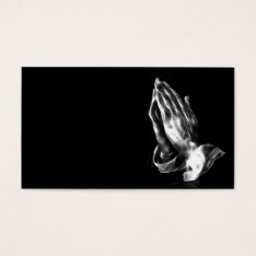 Praying Hands Business Card at Zazzle