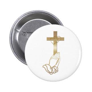 Praying Hands 2 Inch Round Button