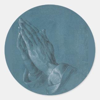Praying Hands by Albrecht Durer Classic Round Sticker