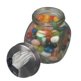Praying Hands Candy Tin/Jar Jelly Belly Candy Jar