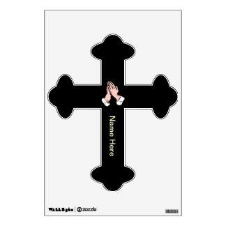 Praying Hands Cross Wall Decal