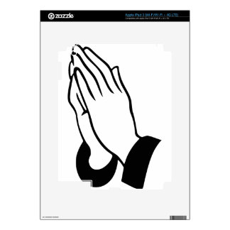 Praying Hands Decal For iPad 3