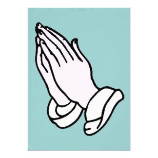 Praying Hands Invitation
