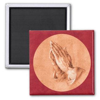 Praying Hands Fridge Magnet