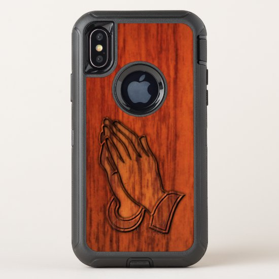 Praying Hands OtterBox Defender iPhone X Case