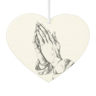 Praying hands outline air freshener