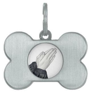 Praying Hands Pet Tag