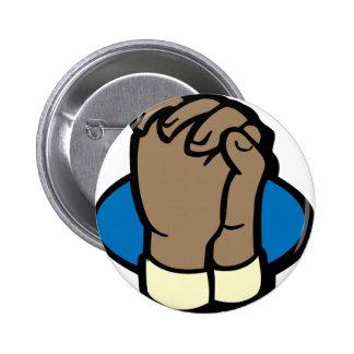 praying hands pinback button