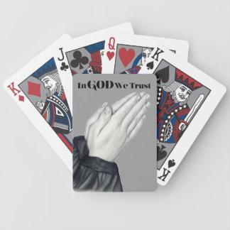 Praying Hands Playing Cards