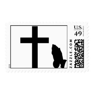 Praying hands postage stamps