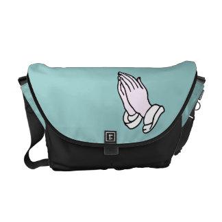 Praying Hands Rickshaw Messenger Bag