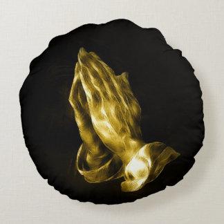 Praying hands round pillow
