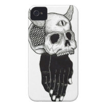 praying hands skull iPhone 4 cases