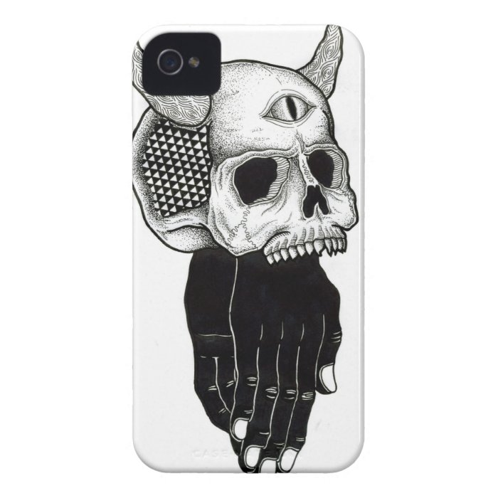praying hands skull iPhone 4 cover