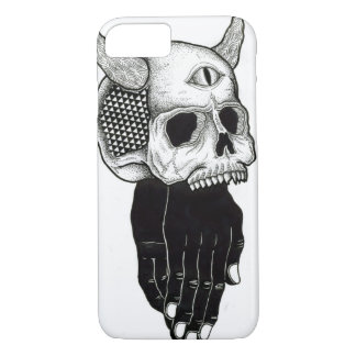 praying hands skull iPhone 8/7 case