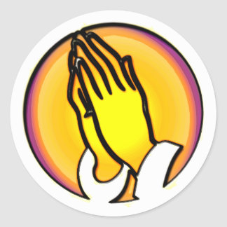 PRAYING HANDS STICKERS