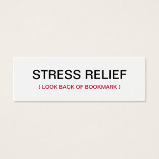 Praying Hands Stress Relief Bookmark Mini Business Card
