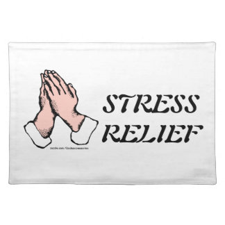 Praying Hands Stress Relief Kitchen Towel Placemat