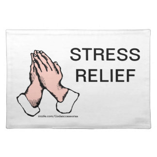 Praying Hands Stress Relief placemat