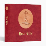 Praying Hands with Cross and Bible 3 Ring Binder