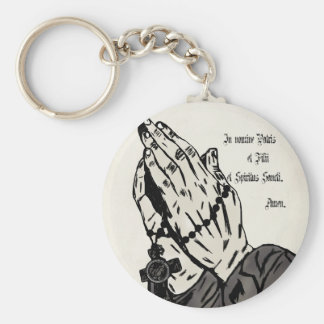 Praying Hands (With Sign of the Cross) Keychain