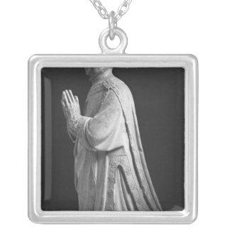Praying kneeling figure of Duc Jean de Berry Silver Plated Necklace