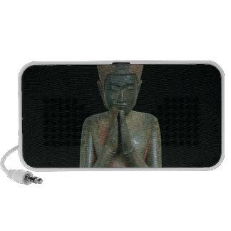 Praying kneeling figure travelling speakers
