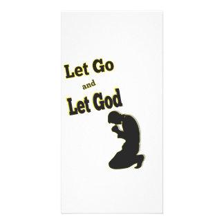 Praying Kneeling Man Let Go Let God Card