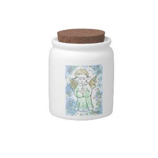 Praying Lamb Angel Candy Jars