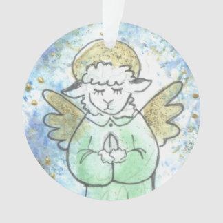Praying Lamb Angel Ornament