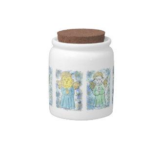 Praying Lion and Lamb Angels Candy Jars