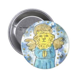 Praying Lion Angel 2 Inch Round Button