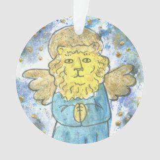 Praying Lion Angel Ornament