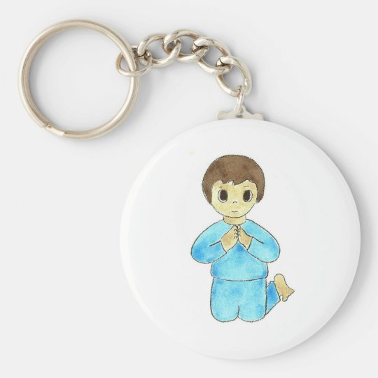 Praying Little Boy Keychain