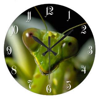 Praying mantid large clock