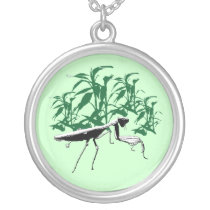 Praying Mantis Bamboo Jungle Necklace
