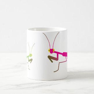 Praying mantis classic white coffee mug