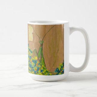 Praying Mantis Door Fine art acrylic printed Coffee Mugs