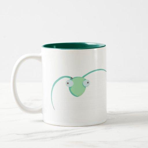 Praying Mantis is watching you (cup) Two-Tone Coffee Mug