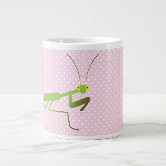 Praying mantis large coffee mug