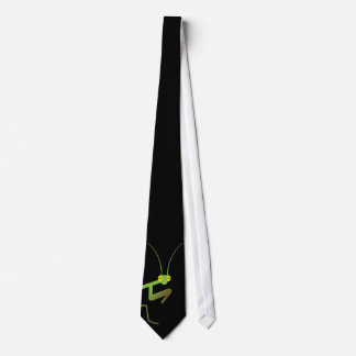 Praying mantis neck tie