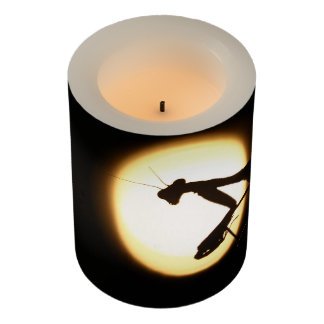 Praying Mantis Silhouette Flameless Candle