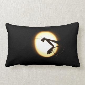 Praying Mantis Silhouette Throw Pillows