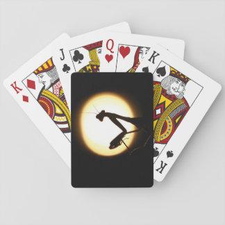 Praying Mantis Silhouette Playing Cards
