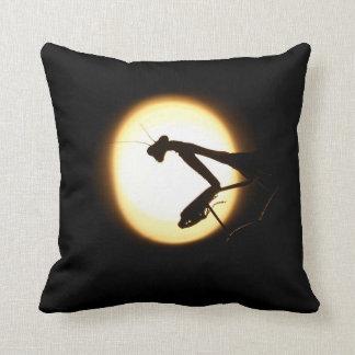 Praying Mantis Silhouette Throw Pillow